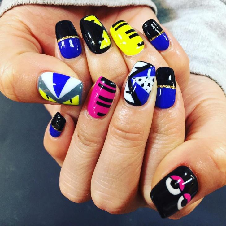 dazzling monster nail art