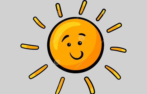 cartoon sun clipart