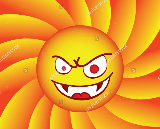 Angry Sun Clipart