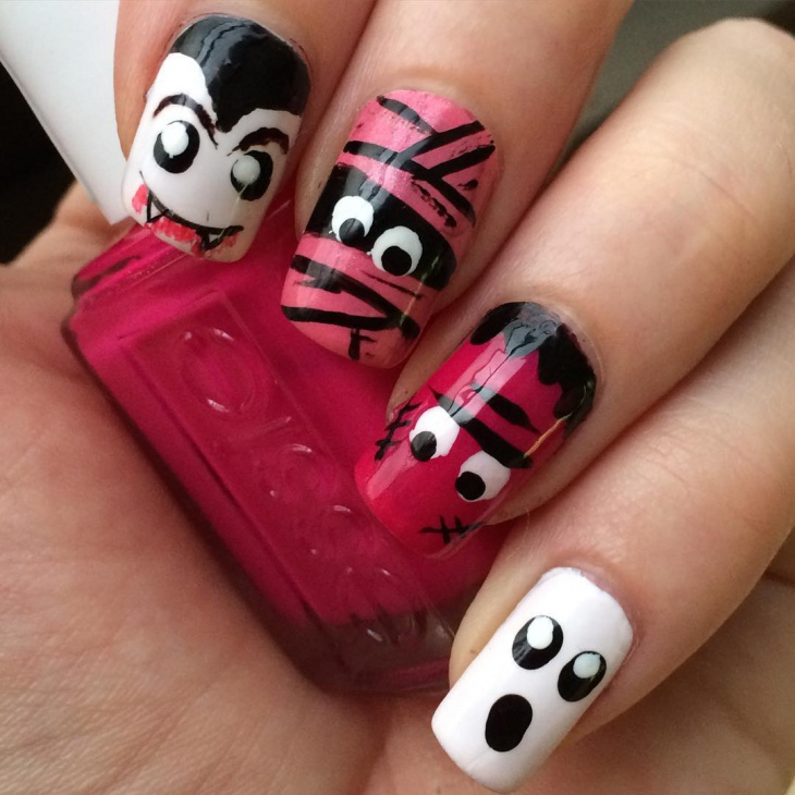scary nail art idea