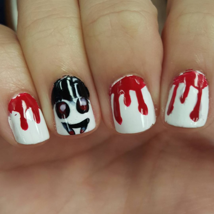 dracula theme nail design