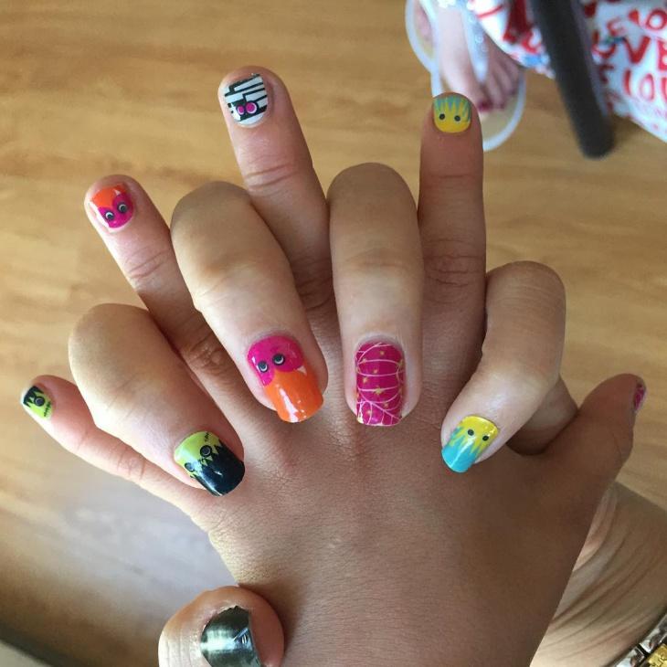 short monster nail design