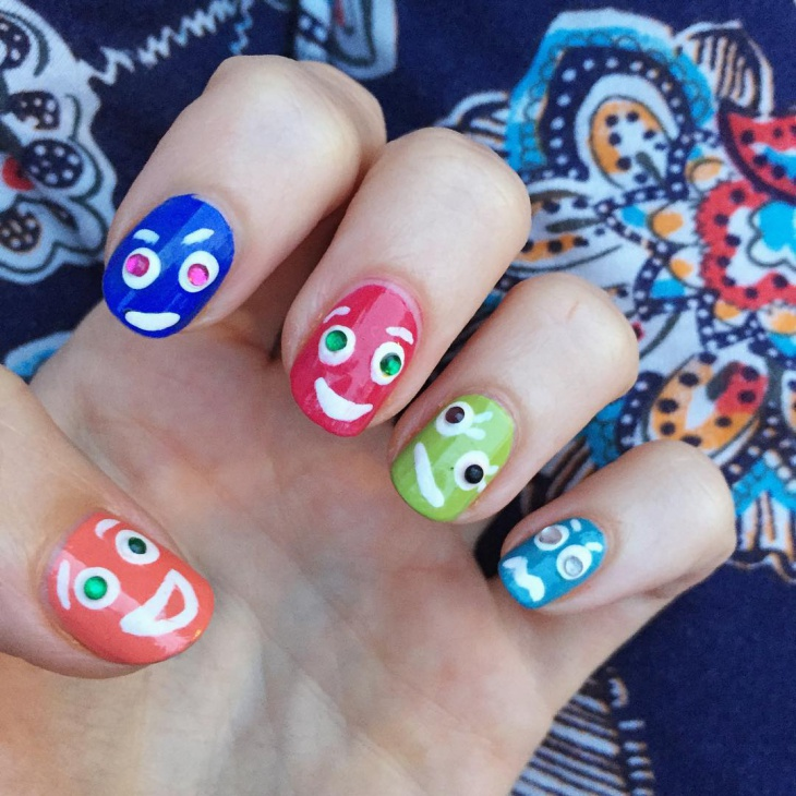 funny art for round nails