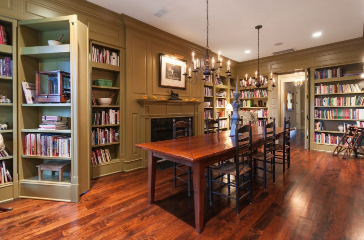 Traditional Library Bookcases Design