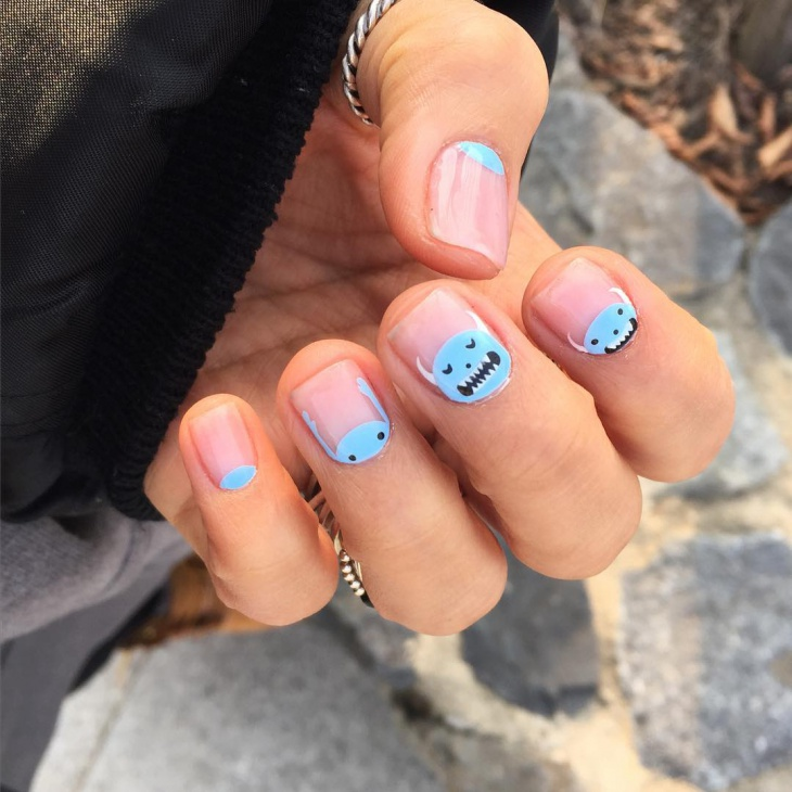 halloween monster nail art