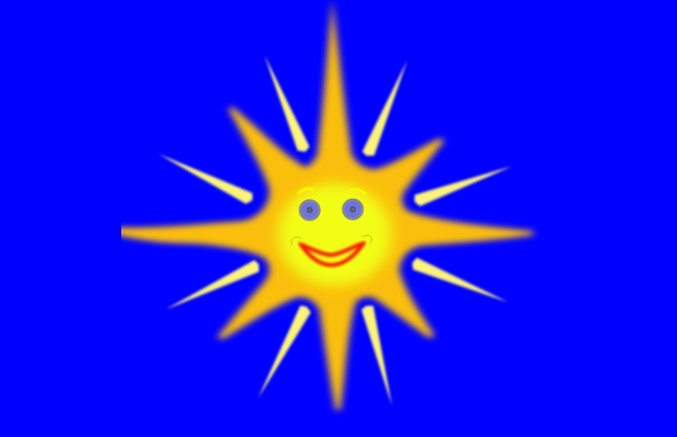 bright happy sun clipart