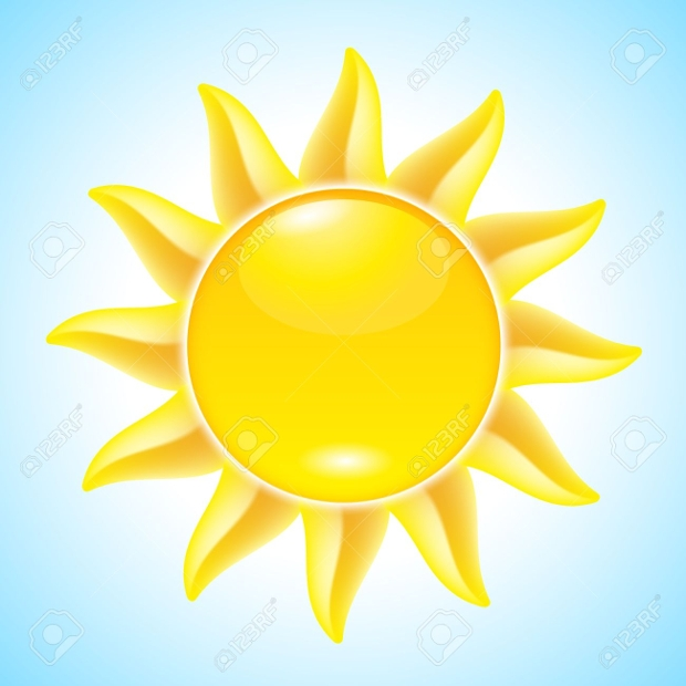 summer cartoon sun clipart