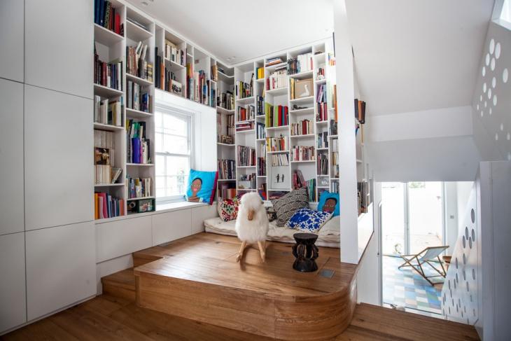 Modern Loft Library Design
