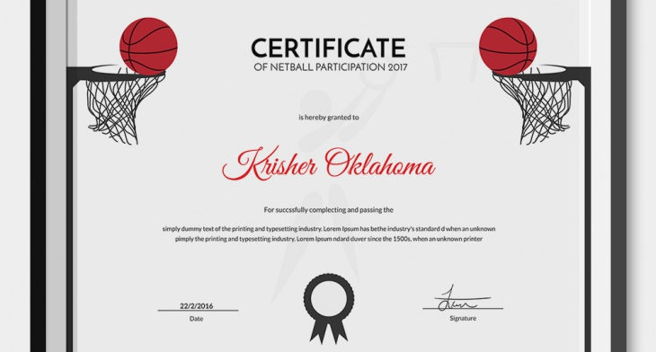 5 netball certificates psd word designs design trends netball certificate templates yelopaper Gallery