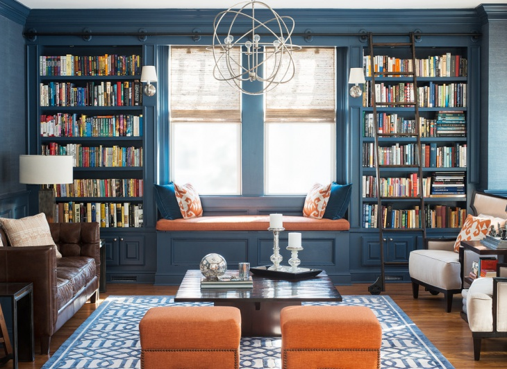 living room library cabinets design