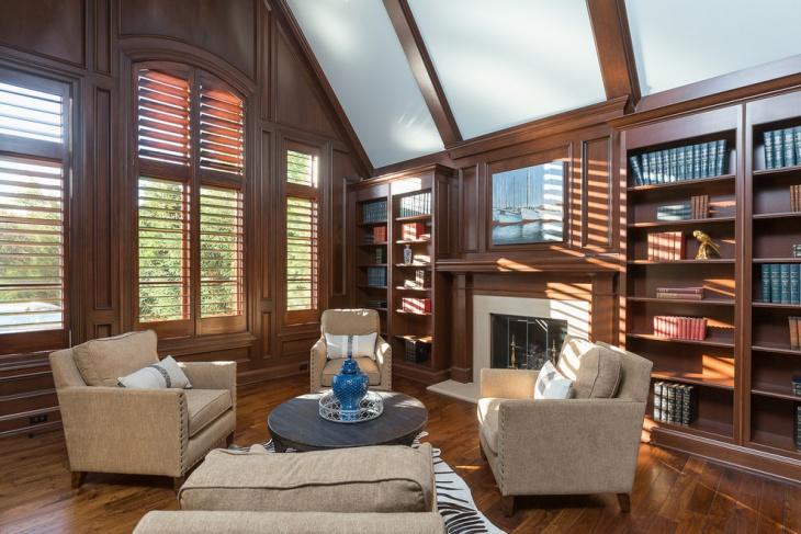 Luxury Library Interior Design