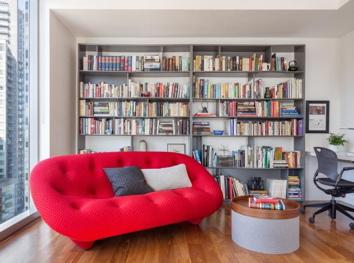 Cottage Library Decor Design