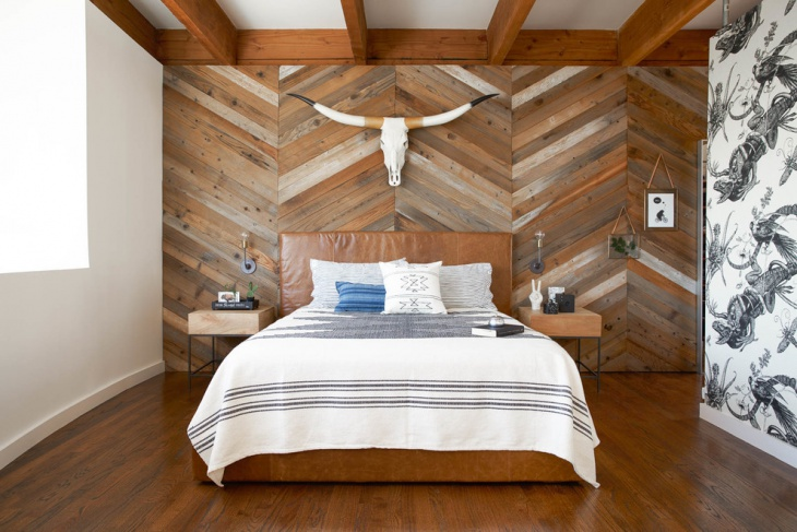 bedroom wooden wall design