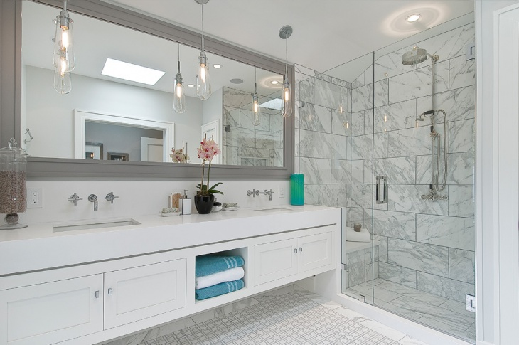 marble shower wall design