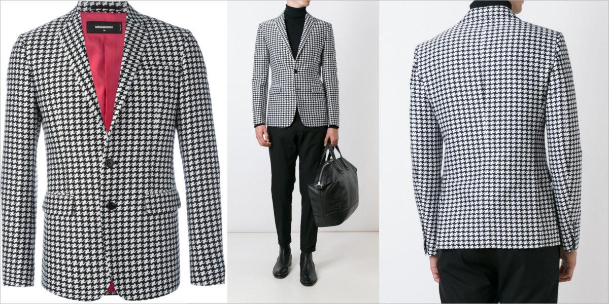 dsquared2 geometric print blazer