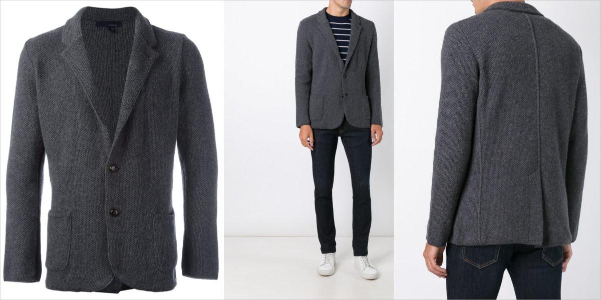lardini wool blend blazer