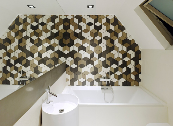 geometric wall tile design