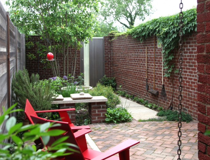 brick garden wall design