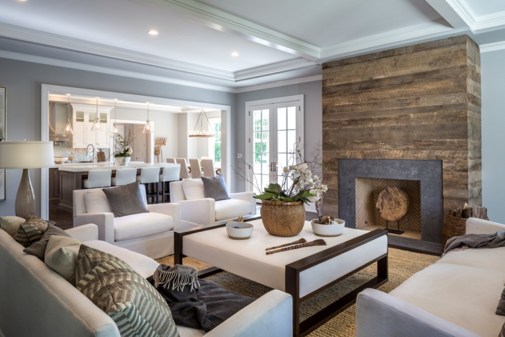rustic fireplace wall design