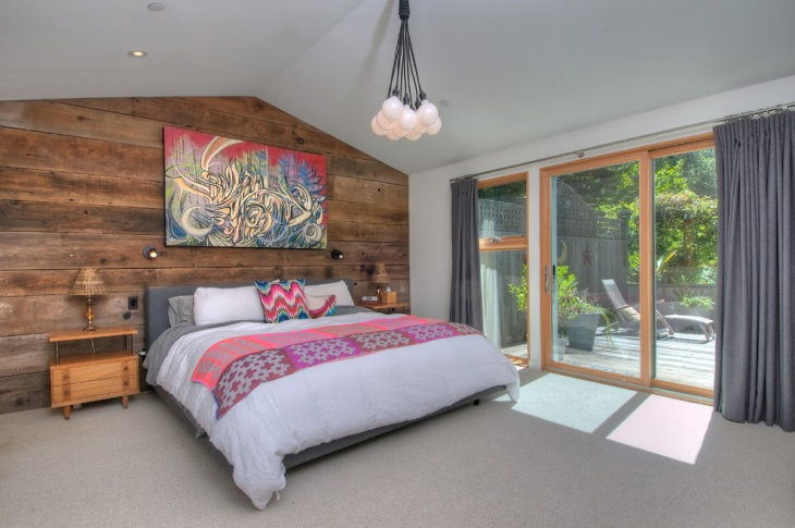 rustic wood wall design