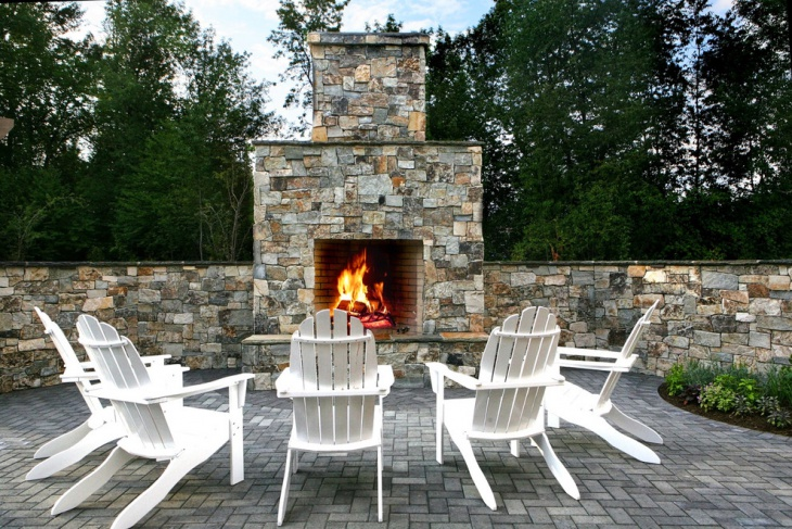 outdoor fire wall design