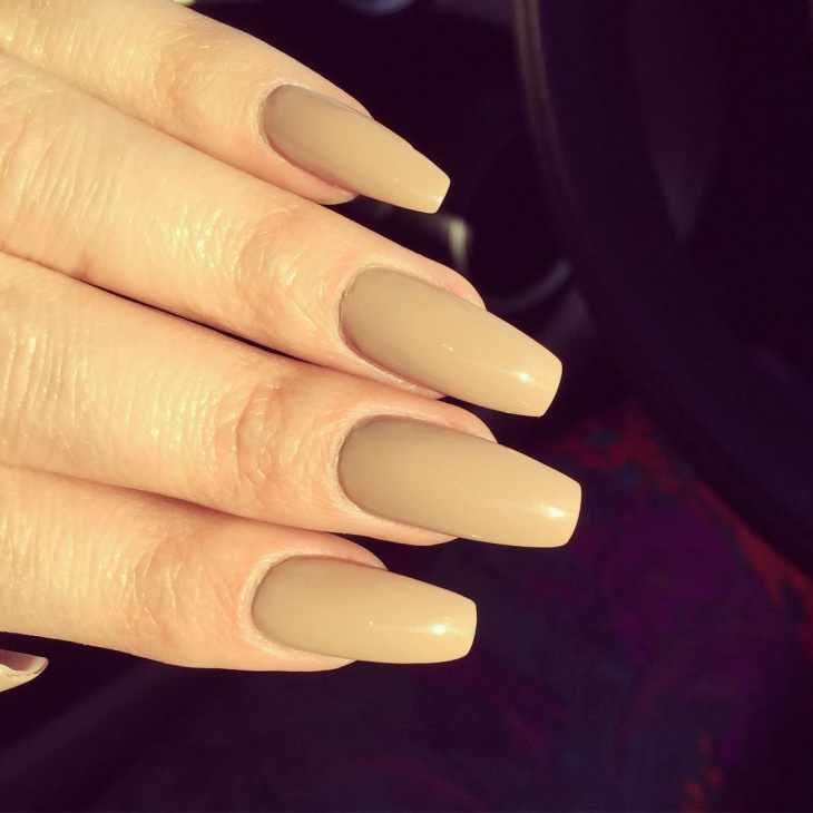 Matte Coffin Acrylic Nails