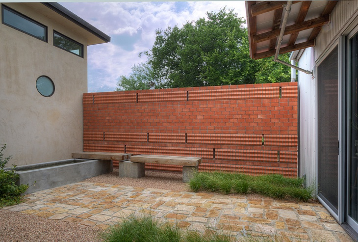 Patio Brick Wall Design