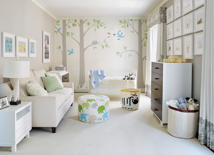 nursery tree wall design
