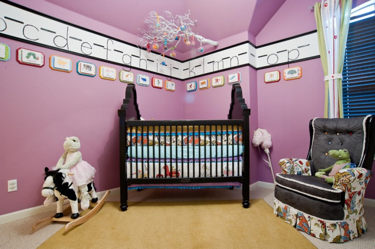 wall design for girl nursery