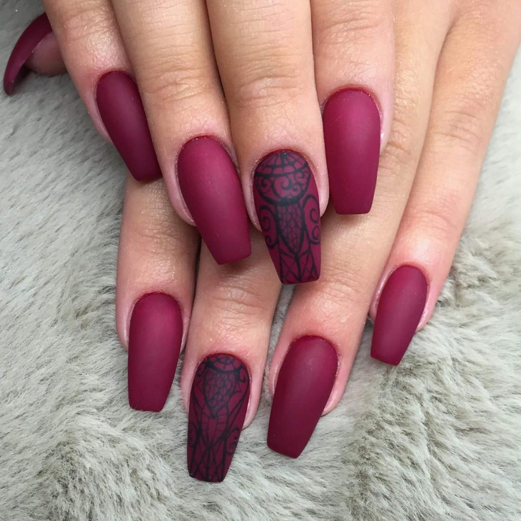 38+ Matte Nail Art Designs, Ideas | Design Trends ...