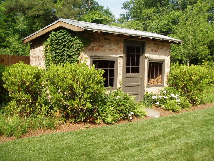 brick garden shed design