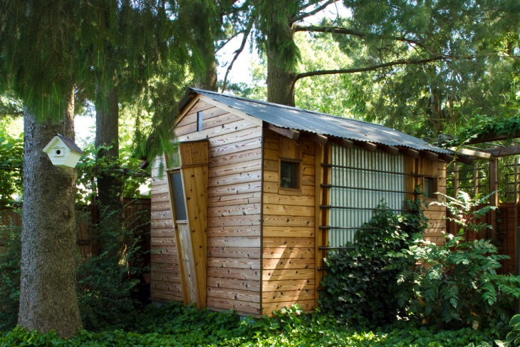 wood storage shed design