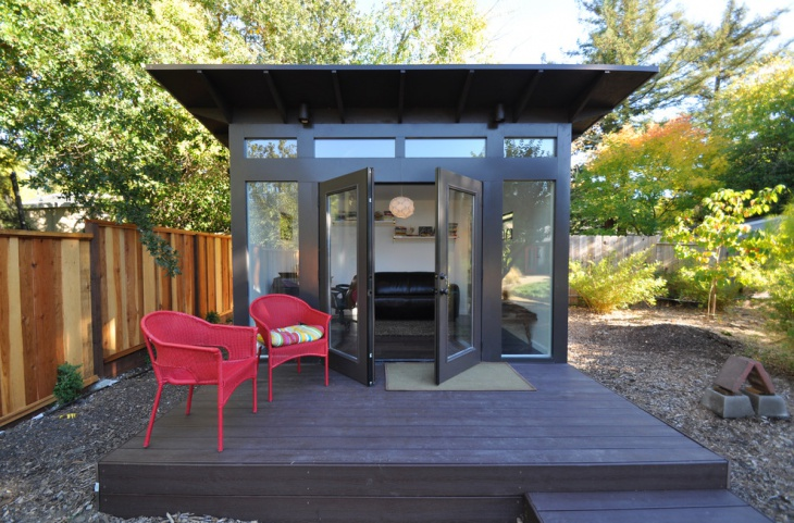 modern backyard shed design