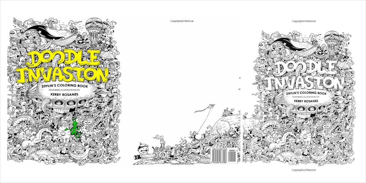 doodle invasion zifflins coloring book1