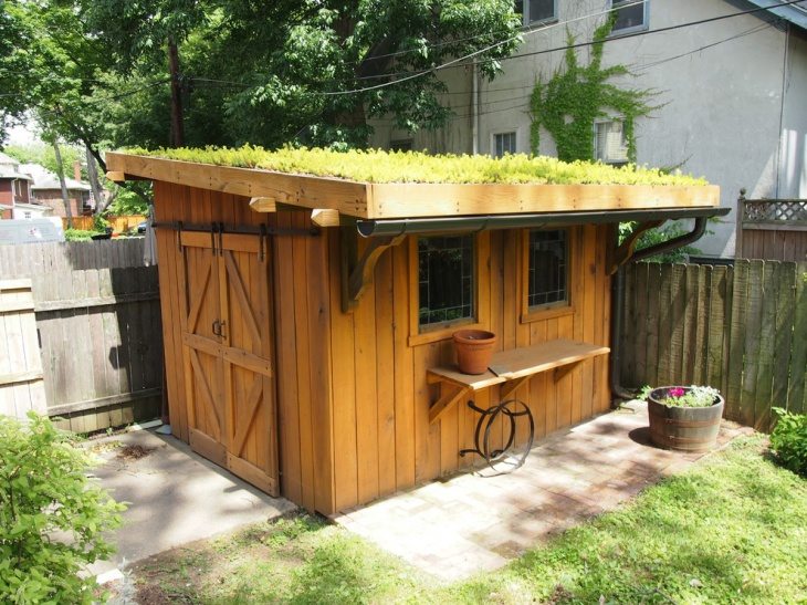 small wood shed design
