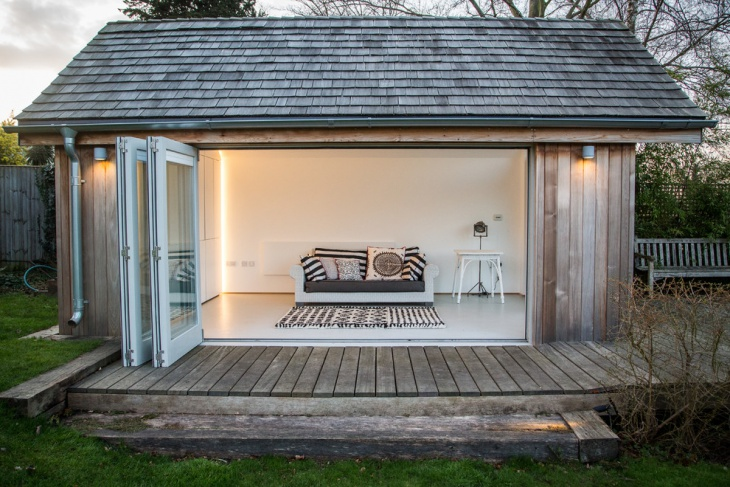 contemporary garden shed design