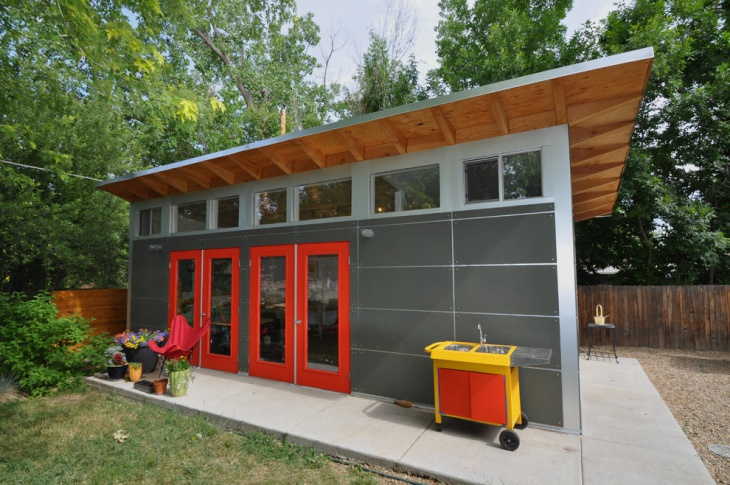 metal garage shed design
