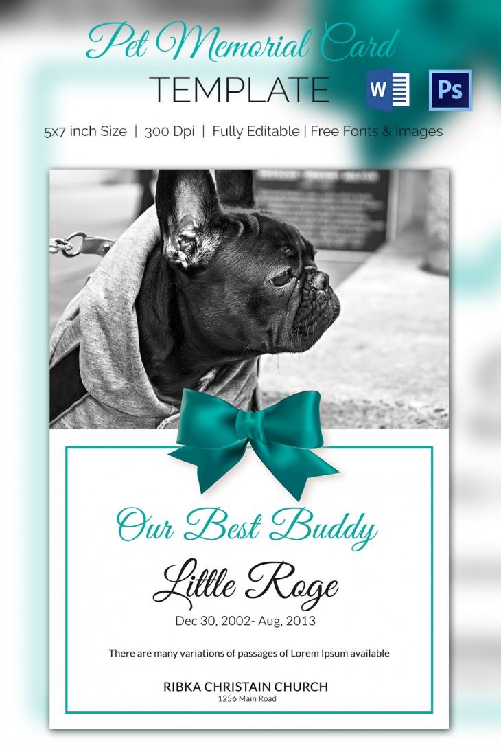 5  Pet Memorial Card Template