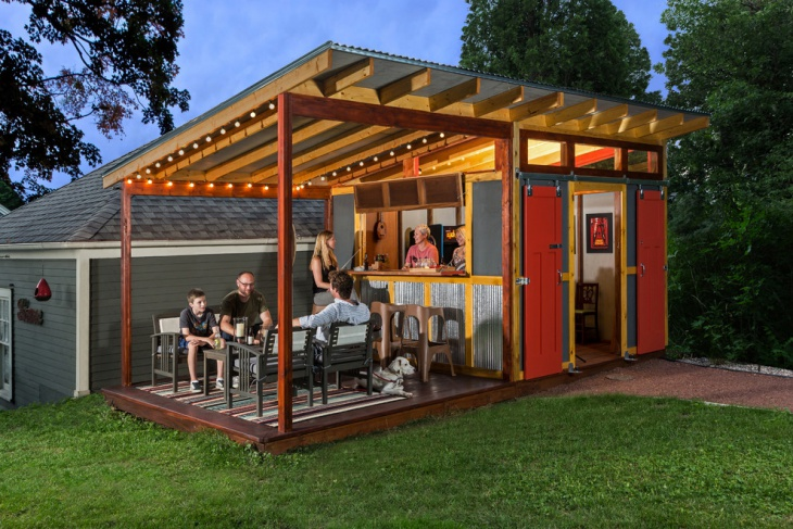 garden shed bar design