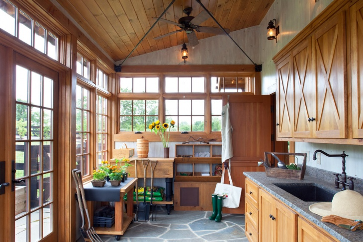 garden shed interior design