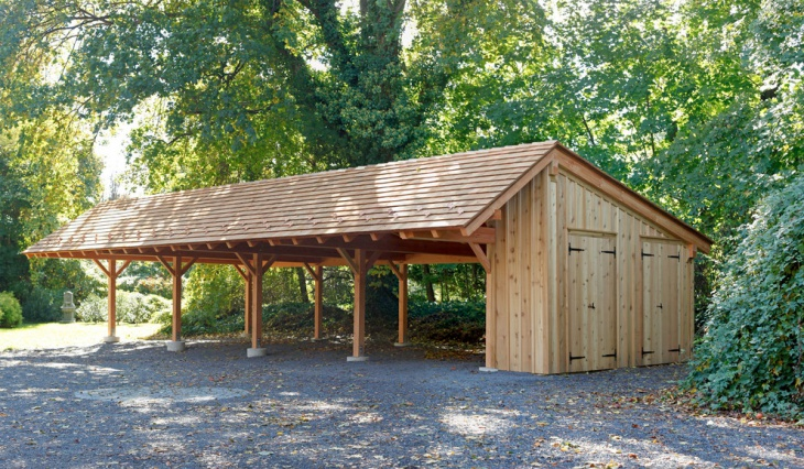open car shed design