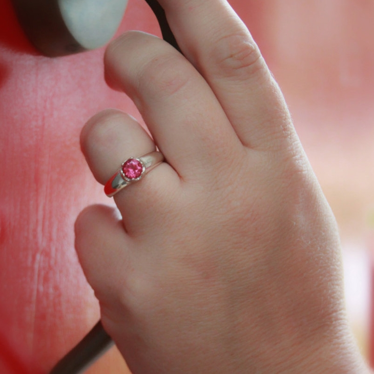 pink diamond promise ring