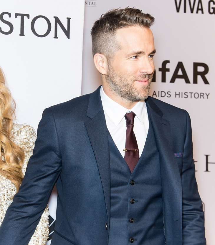 Ryan Reynolds Low Taper Fade Haircut