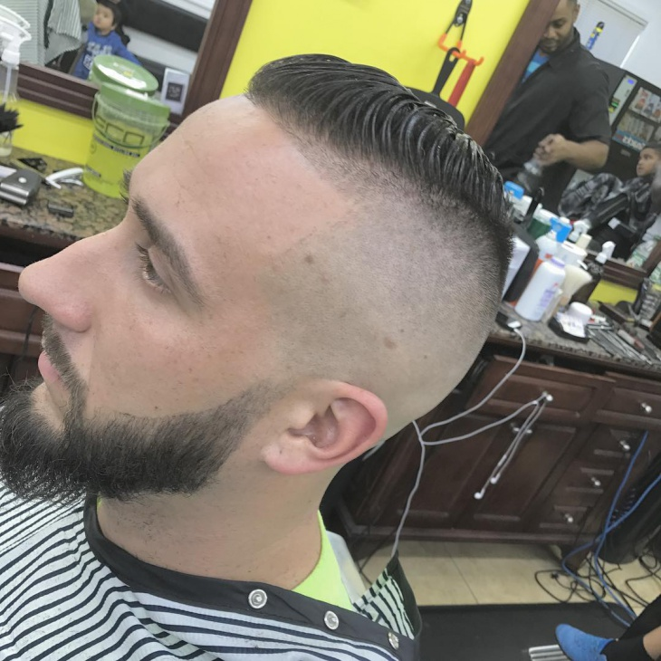 Skin Fade Comb Over Haircut