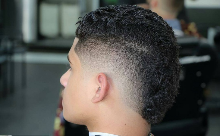 buzz mohawk fade hairstyle