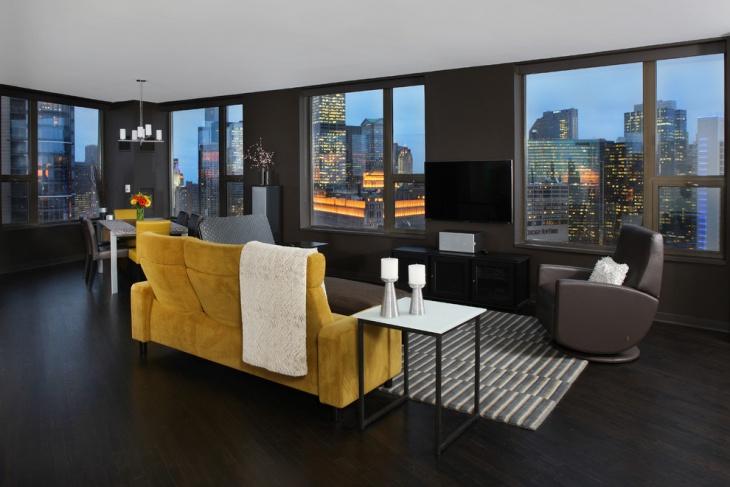 Penthouse Living Room Floor Design