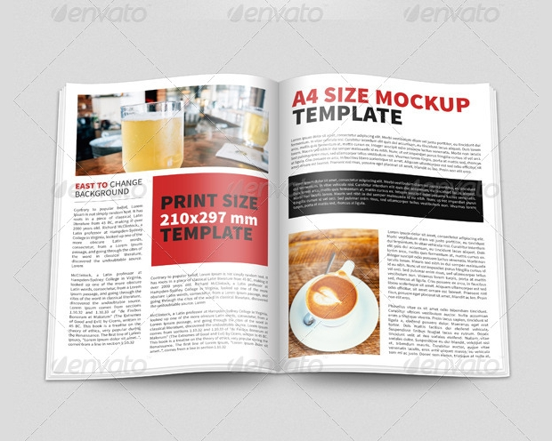 a4 newsletter magazine mockup