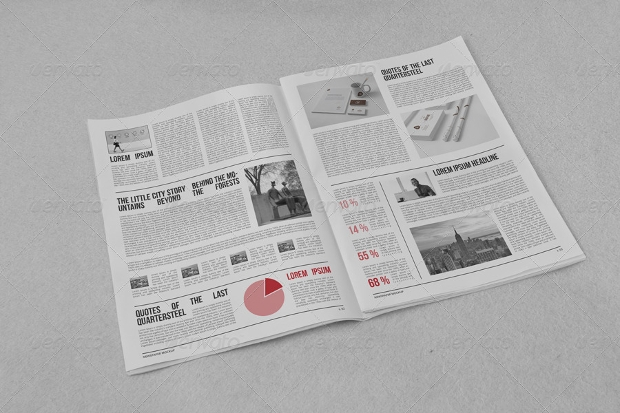 vintage layerd newspaper mockup