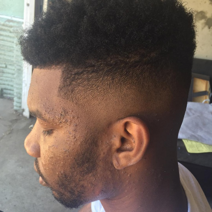 Blowout Afro Fade Hairstyle