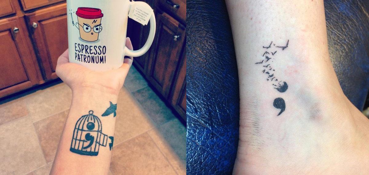 uncage semicolon tattoo1